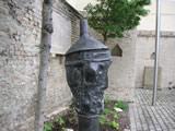 Judenkopf, Bronze, Plastik des speyerer Künstlers Wolfram Spitzer