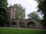 Heidentürmchen, Teil der alten Stadtmauer (Rheingraben) erbaut im 13. Jahrhundert