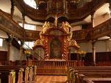 Dreifaltigkeitskirche (Barockkirche) mit Altar, erbaut 1701-1717