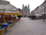 Maximilianstraße Speyer mit Blick auf den Dom, Westportal