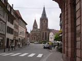 Weißenburg, Elsaß mit Kirche
